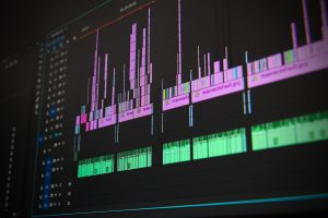 timeline on a video editing software
