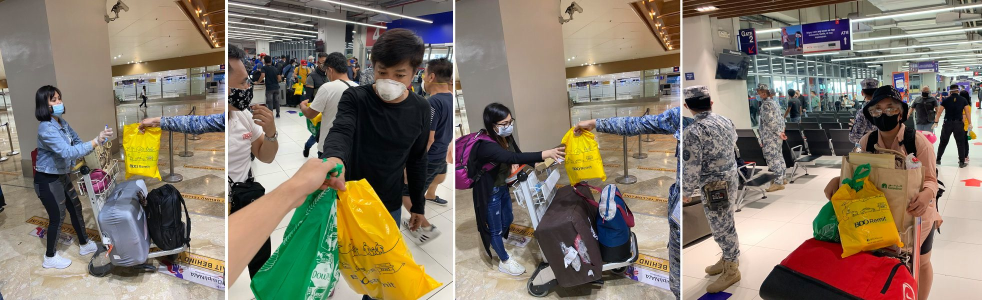 BDO Remit Helps in the Distribution of Hygiene Kits to Repatriated OFWs