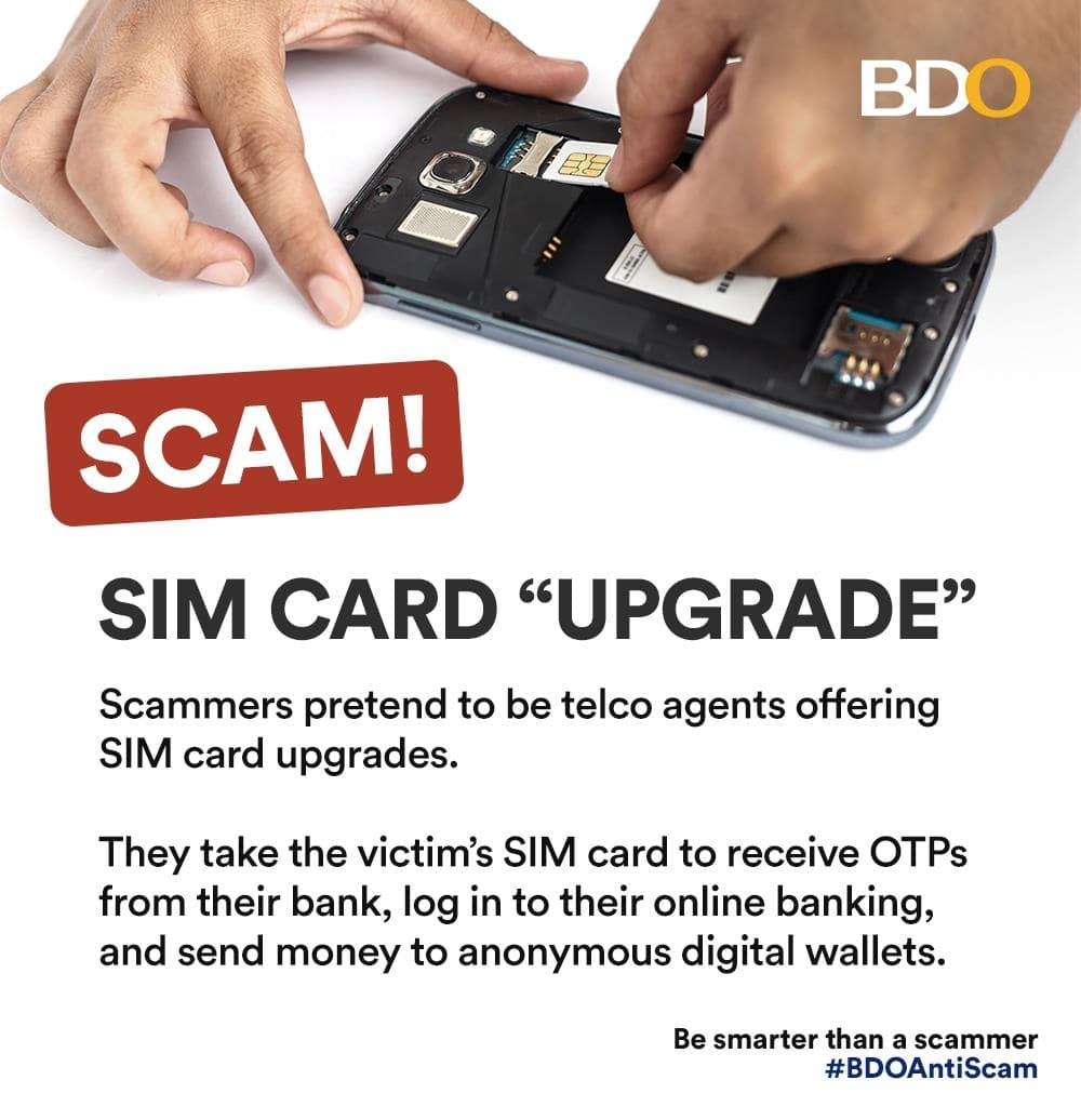BDO Warns Public Against SIM-card-related Scams